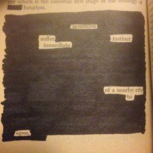 HOrizon black out poem